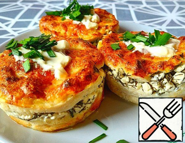 Chicken Muffins with Feta and Dill Recipe