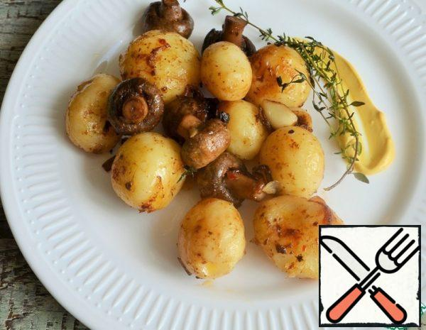 Potatoes with Mushrooms, Garlic and Thyme Recipe