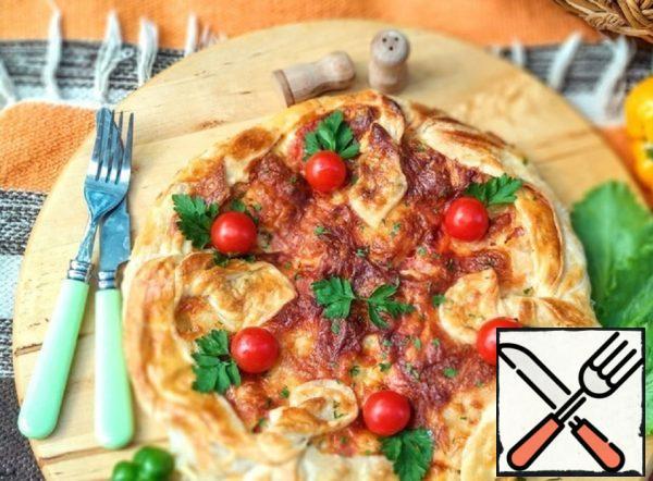 Pizza with Zucchini and Schnitzel Recipe
