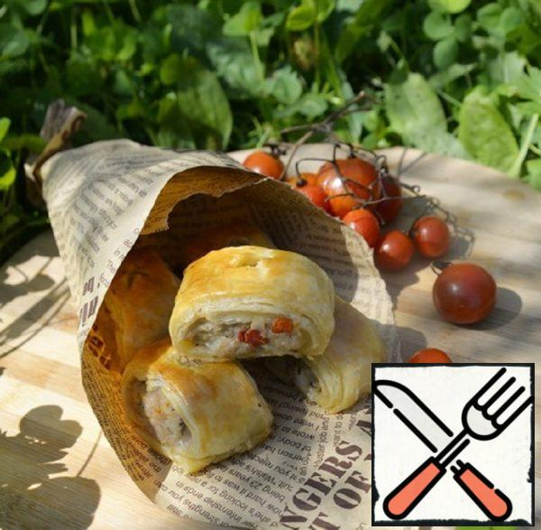 """Puffs with Minced Turkey """"Picnic"""" Recipe"""