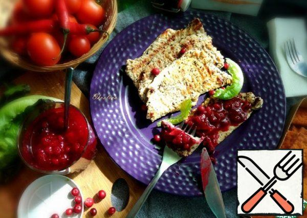 Grilled Turkey Fillet with Cowberry Sauce Recipe