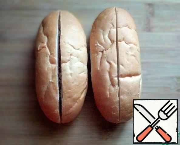 The buns for the hot dogs to make cuts, but not until the end.