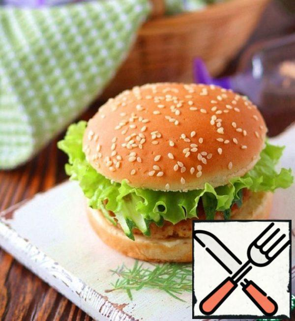 Hamburger with Turkey and Garlic Cheese Recipe