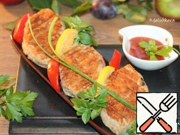 These cutlets can be cooked at home in a grill pan or in an electric grill.