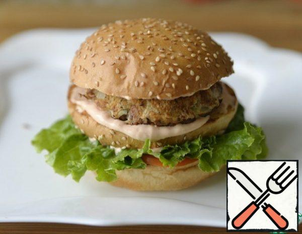 Hamburger with Minced Turkey Patty Recipe
