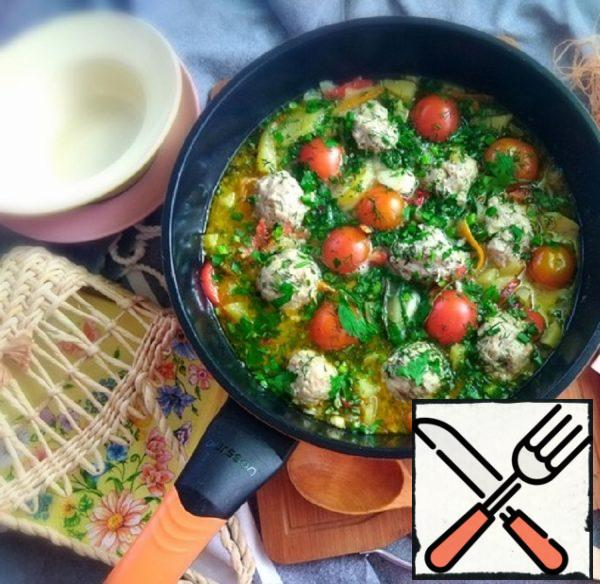 Wok with Meatballs and Vegetables Recipe