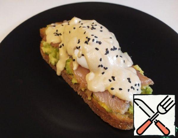 Eggs Benedict with Salmon, Avocado and Tahini Recipe