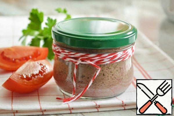 Remove the cans from the steamer, close the lid and put them in the refrigerator until completely cool. Very convenient: I prepared it in a jar, and took it with me to a picnic in the same jar.