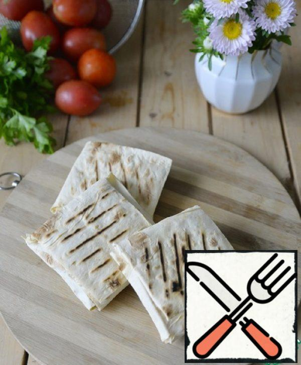 Envelopes of Pita with Turkey and Cheese Recipe