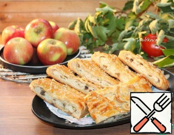 Pie on Kefir with Turkey and Mushrooms Recipe