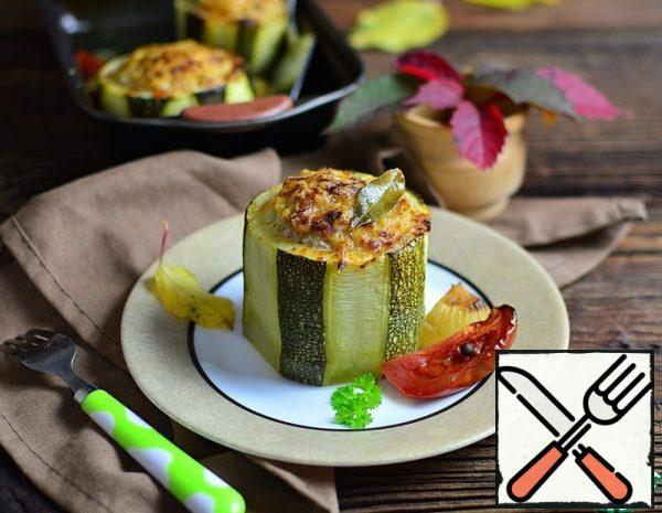 Zucchini stuffed with Lamb and Millet Recipe