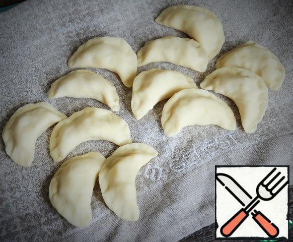 To stick dumplings.