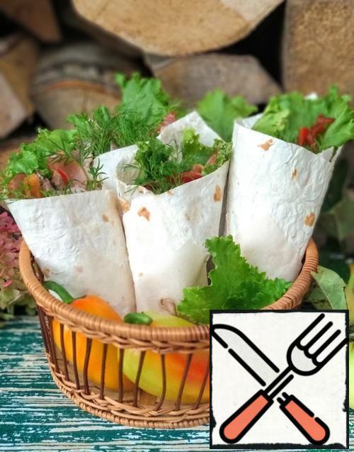Shawarma is ready.