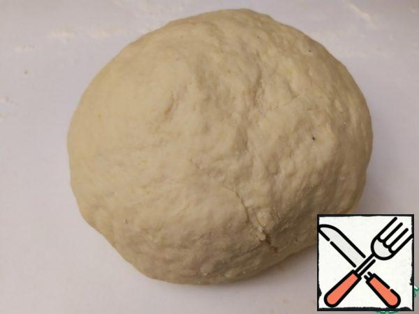 It is difficult to say exactly how much flour you will need. We focus on the final consistency. You should get a dense, strong dough.