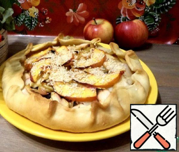 Galeta with Apples, Nectarines and Raisins Recipe