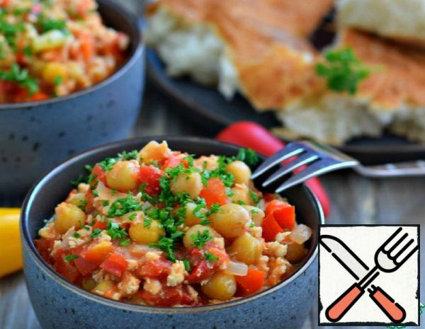 Chickpeas with Vegetables and Minced Chicken Recipe