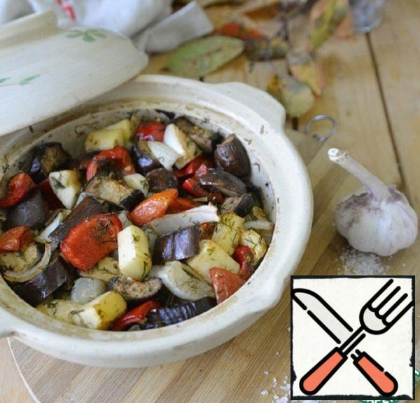 Vegetables Baked in Garlic Marinade Recipe