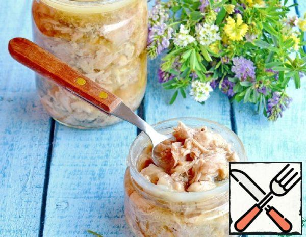 Canned Meat from the Thigh of a Turkey Recipe