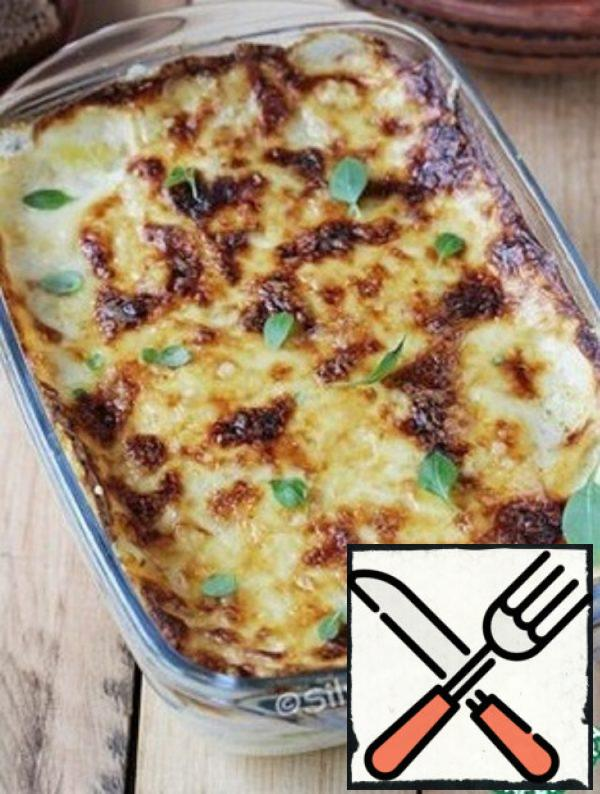 Gratin with Potatoes and Zucchini Recipe