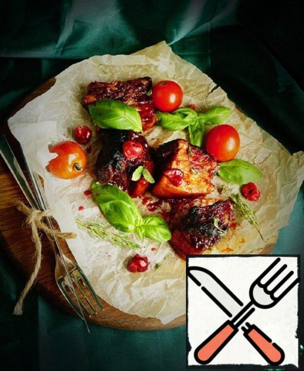 Cherry Pork Ribs in a Sharp-Sweet Glaze Recipe