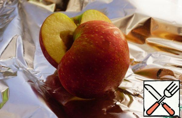 Wrap the Apple in foil.