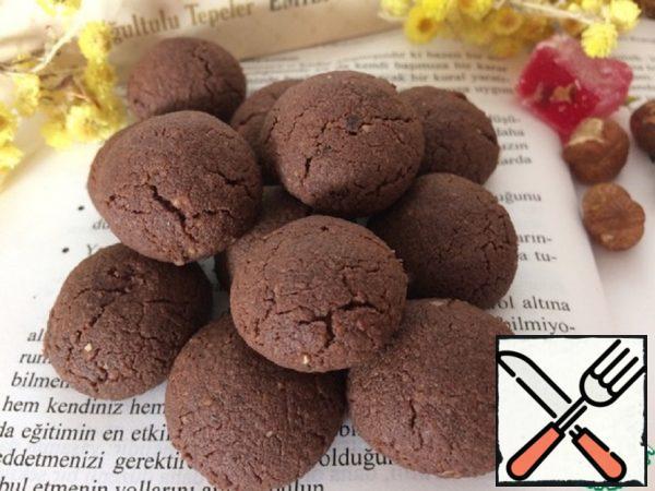 Chocolate Mini Cookies with Hazelnuts Recipe