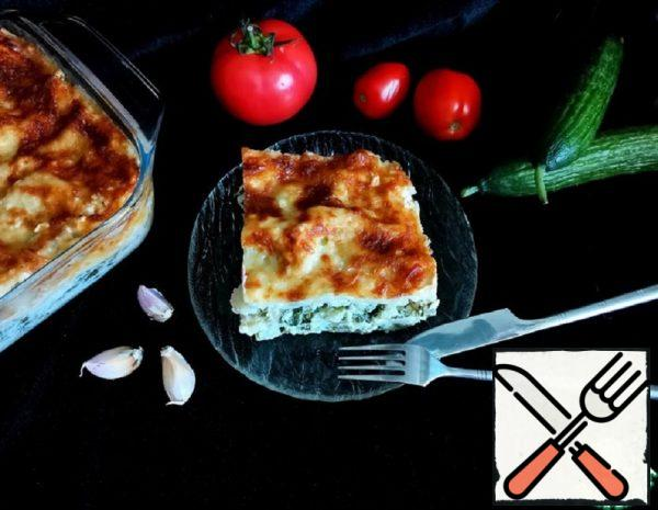 Lasagna with Cabbage and Cheese Recipe