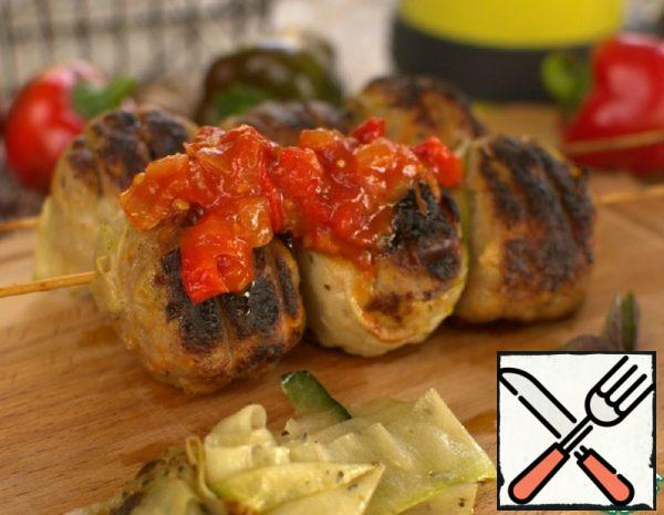 Cutlets on the Grill with Spicy Sauce Recipe
