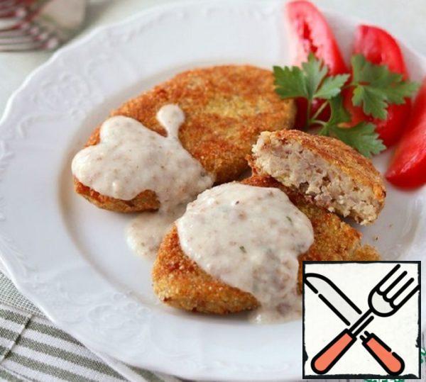 Potato-Buckwheat Cutlets with Mushroom Sauce Recipe