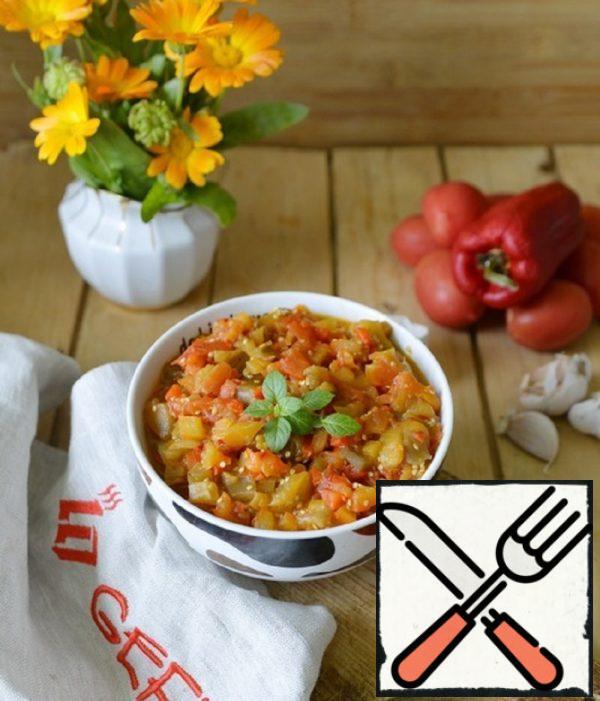 "Balkan Caviar from Baked Vegetables ""Pinjur"" Recipe"