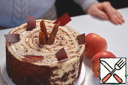 Pour tea and enjoy a delicious cake and Golden autumn!