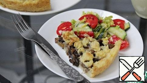 Alternatively, you can make this casserole with mushrooms (400 g) and add a little truffle oil to the potatoes. Bon Appetit!