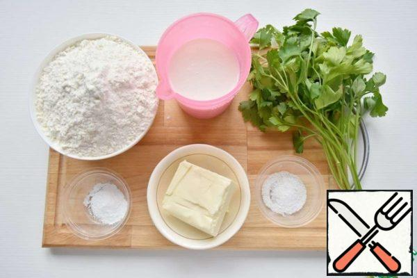 While the filling is stewing, prepare the products for making dough for buns.