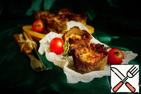 Mini-Quiche of Rye Bread with Fish Recipe