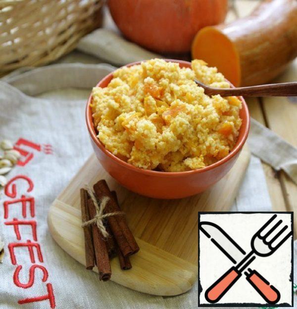 Couscous Milk Porridge with Pumpkin Recipe