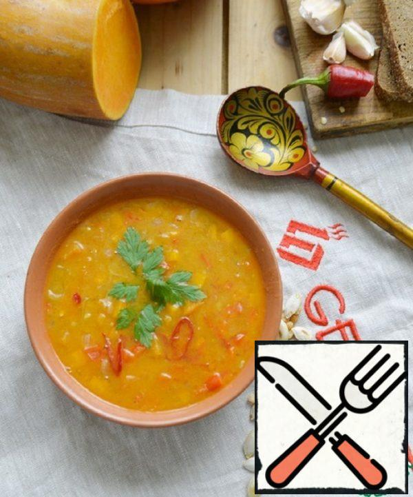 Spicy Pea Soup with Pumpkin Recipe