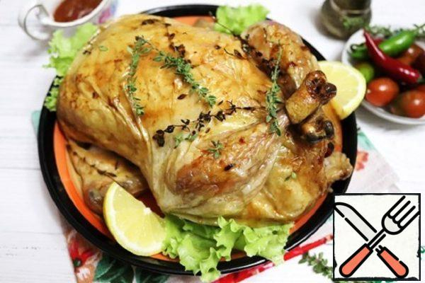 Baked Chicken with Chestnuts and Apples Recipe