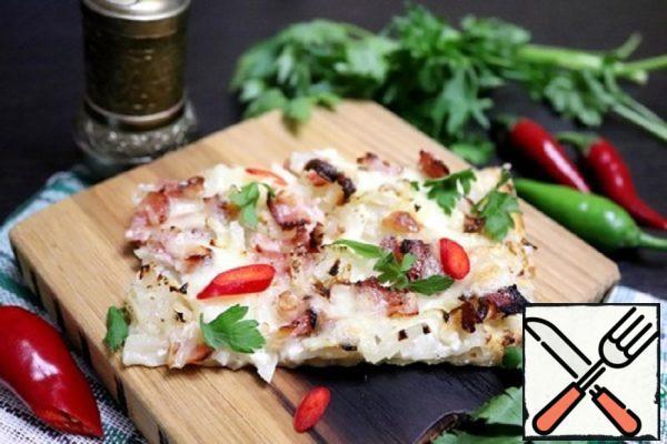 Flammkuchen with Mozzarella Recipe