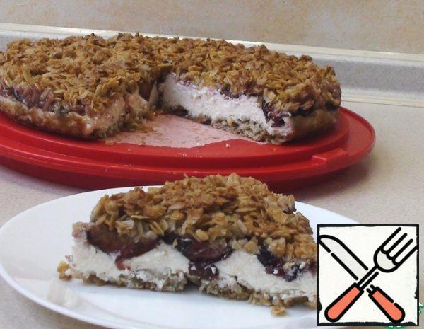 Oatmeal Cheesecake with Cream Recipe