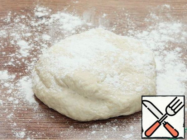 Collect the dough in a lump.
