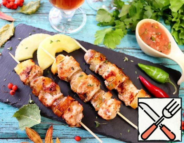 Skewers-Assorted with Pineapple Recipe