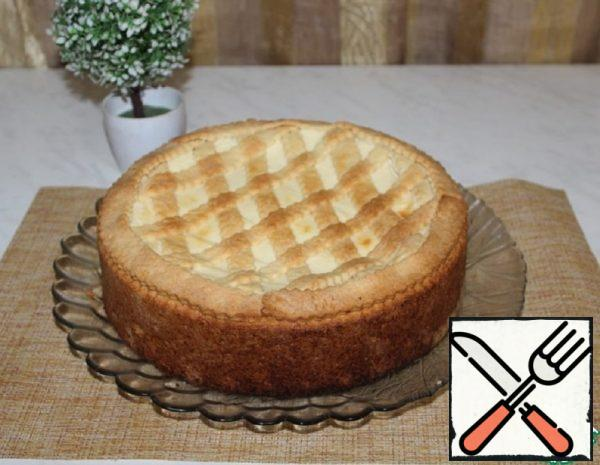 Italian Pie with Cottage Cheese and Custard Recipe