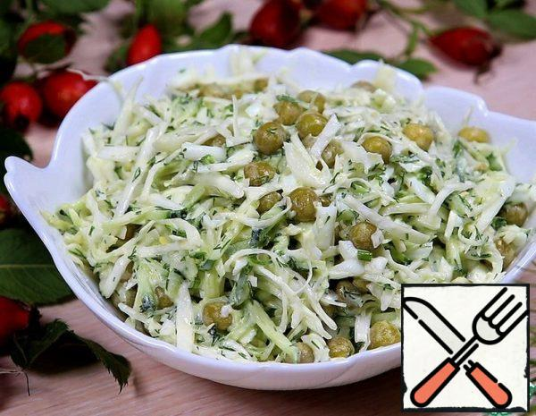 1. Boil the egg until done and cool. 2. chop the Cabbage and mash it with your hands to make it softer. 3. Cucumber RUB on the Korean grater (or small) 4. Egg grate on a coarse grater 5. Finely chop the dill 6. add salt to taste, season with mayonnaise (or sour cream) to taste.