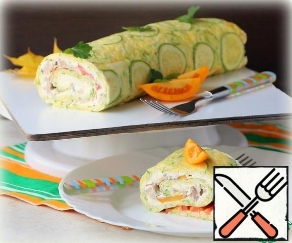 The finished roll turned out to be very tender, cut and serve. Bon appetit!