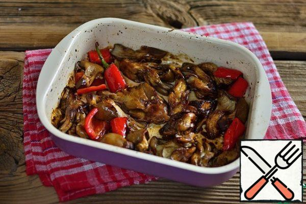 Bake oyster mushrooms in the oven for 15-20 minutes.
