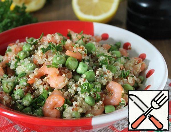 Quinoa Salad with Green Peas and Shrimp Recipe