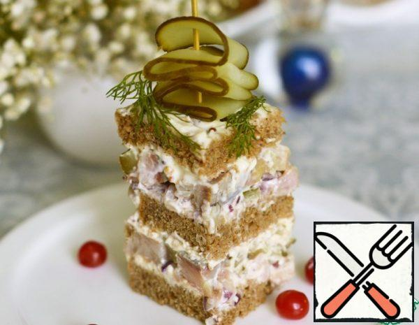 Snack Cake with Herring Recipe