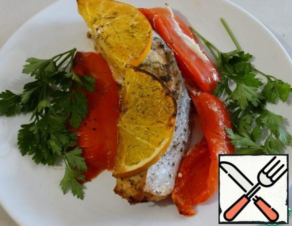 Salmon with Pepper and Oranges Recipe