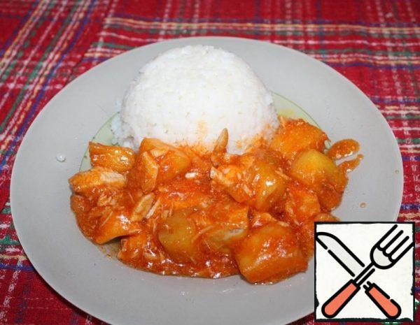 Chicken with Pineapples Recipe