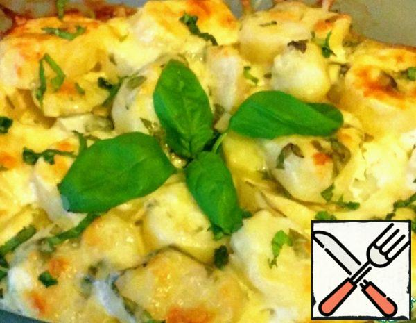 Potatoes baked with Basil Recipe